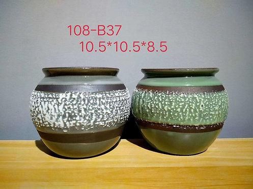 Premium Purple Clay Succulents flower pots Pair 10.5cm diameter x 8.5cm height