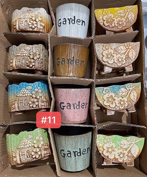 Special Sale Box Ceramic Succulents Cactus Pots #11