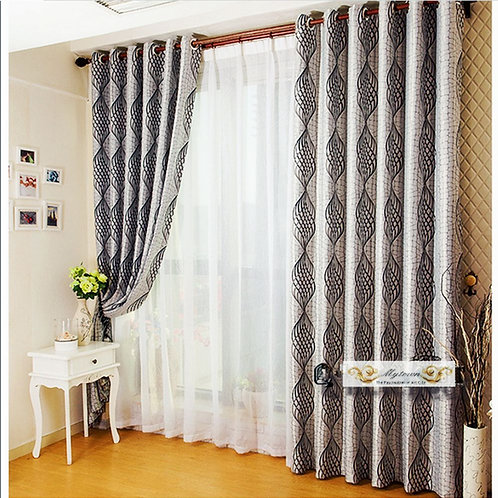 BLOCK OUT EYELET CURTAINS DOUBLE SIDE