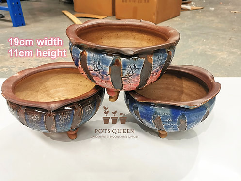 Gloss Glaze Blasting pots for Succulents Cactus Flower Outdoor #11