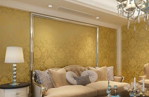 WALLPAPER ROLL  EMBOSSED FEATURE 3D Gloden