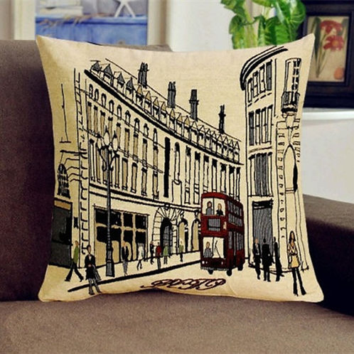 POLYESTER MIXED COTTON CUSHION COVER Train