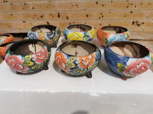 Flora round ceramic pot Each