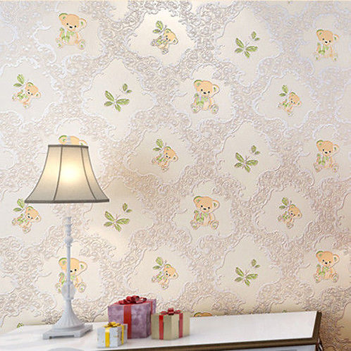 10m Wallpaper- Teddy Bear Kids Room 4 Color