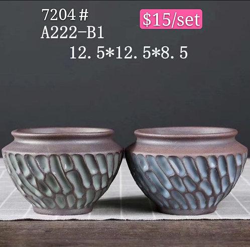 Premium Purple Clay Succulents flower pots 12.5cm x 8.5cm