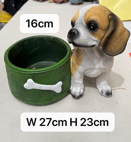 Large Puppy Ceramic Status Flower Succulents Pots with drain hole