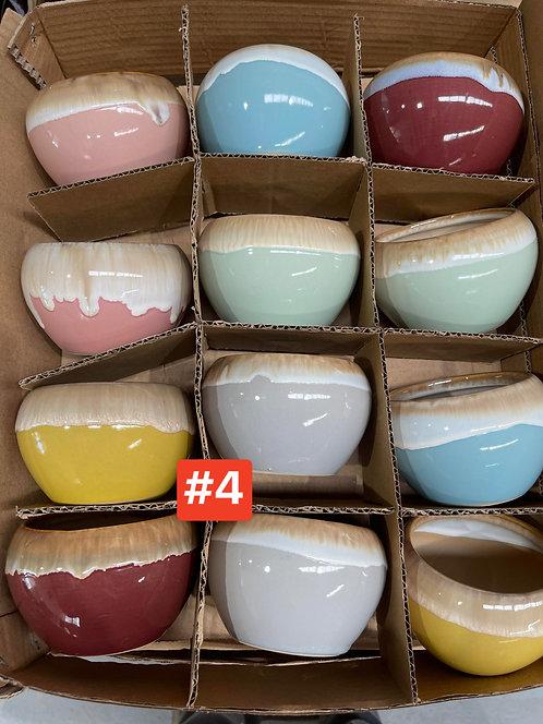 Special Sale Box Ceramic Succulents Cactus Pots #4