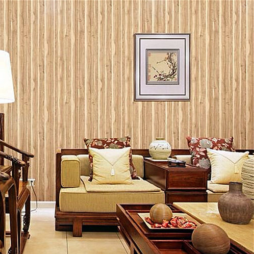 10m Realistic Wood Grain Wallpaper Roll KZ0601