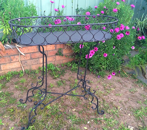 Elegant FRENCH provincial Wrought Iron Plant Stand