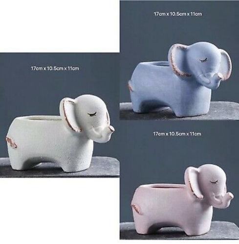 Set of 3 Elephant Ceramic 17cm x 11cm