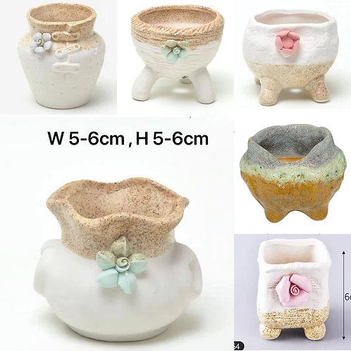6pcs Finger Pots Baby Succulents Pots 5-6cm