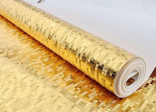 Luxury Modern WALLPAPER ROLL Golden Mosaics