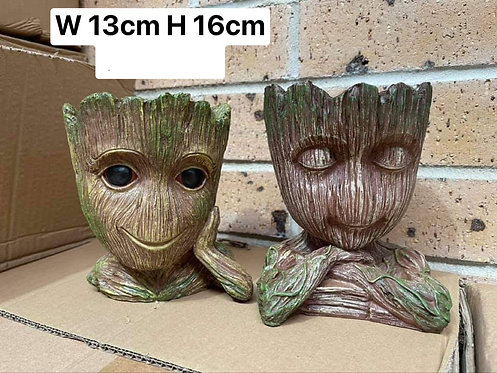 Pair Groot Heads 'Guardians of the Galaxy' Stylish Resin Succulents pots