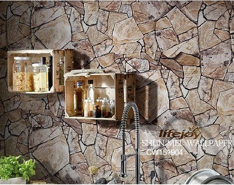 Marble Rock Slate Realistic Wallpaper Roll 151904