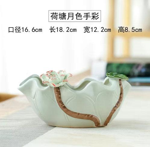 Hand made Gloss Glaze Succulent pots Large 18 x 16cm