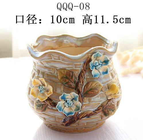 Gloss Glaze - 3D Flower Hand made Tan