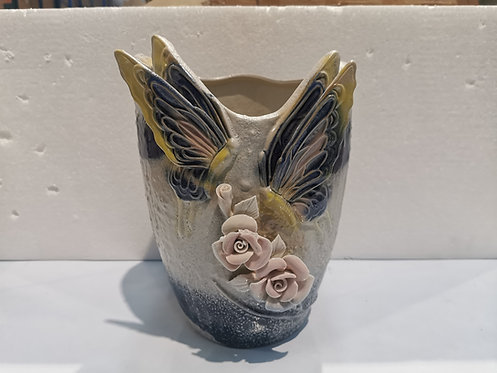Premium Hand Painted 3D Angle Wings Flower Large Ceramic Succulents Pots 28cm