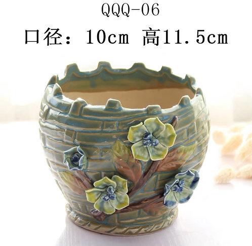 Gloss Glaze - 3D Flower Hand made 06 Green