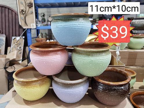 Selection of 6 Cactus Succulent Pots Ceramic Flower Plant pots Garden Matt color