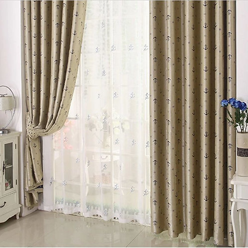BLOCKOUT EYELET CURTAIN Double-side pattern BLUE