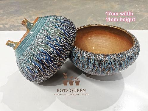 Gloss Glaze Blasting pots for Succulents Cactus Flower Outdoor #12