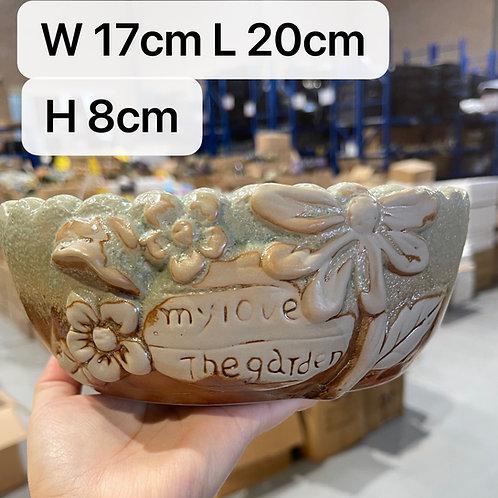 Hand Painted Ceramic Succulents Pots Vintage Flower 17cm w x 20cm L