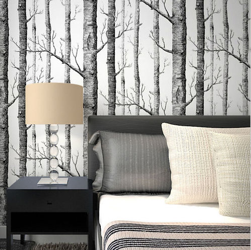 10m Roll Forest Tree Wallpaper Birch Branches