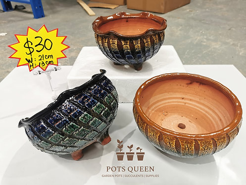 Gloss Glaze Blasting pots for Succulents Cactus Flower Outdoor #14