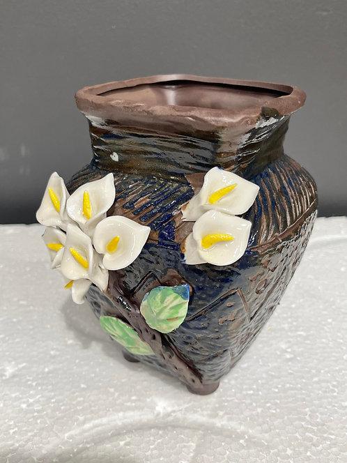 Gloss Glaze - 3D Flower Hand made White flower