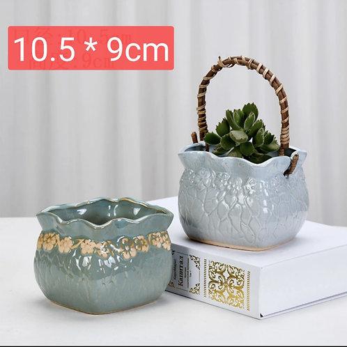 Gloss Glaze Succulent Baskets Selection Pair 015