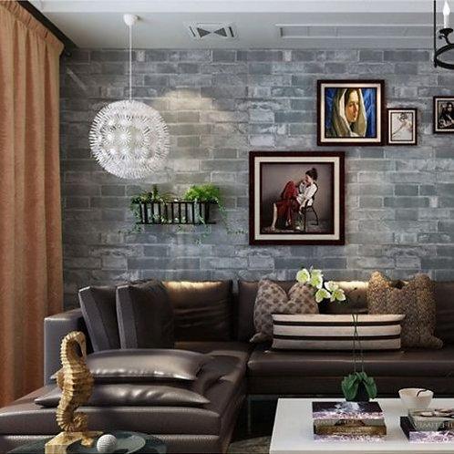 Realistic Brick Optic Wash Grey Brick Wallpaper