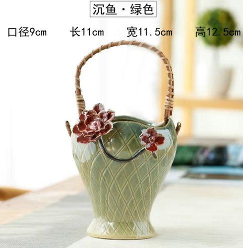 Gloss Glaze Succulent Baskets Selection 005