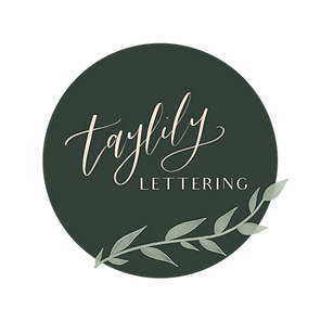 taylily lettering logo