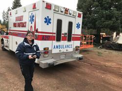 EMT Kelley Marks with Ambulance 217