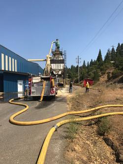 Hopper fire at Sierra Pacific Industries