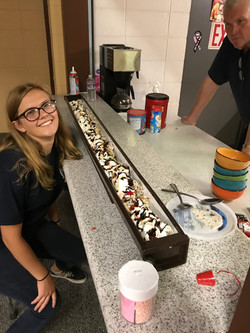 Some downtime with a 5-foot banana split