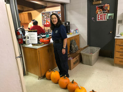 Penny Rodgers EMT at the Halloween Open House