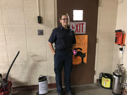 Cadet Mallory Adkins during the Halloween Open House