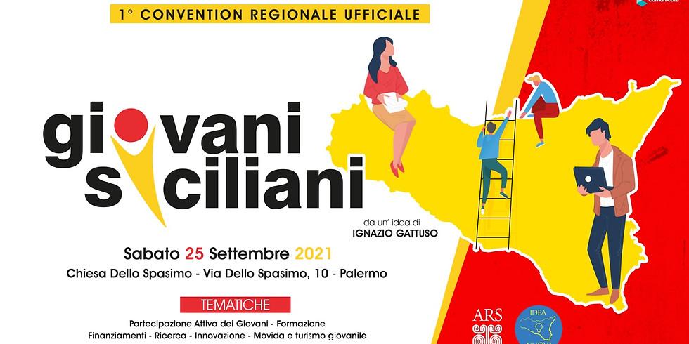 PRIMA CONVENTION DEI GIOVANI SICILIANI 25 SETTEMBRE 2021