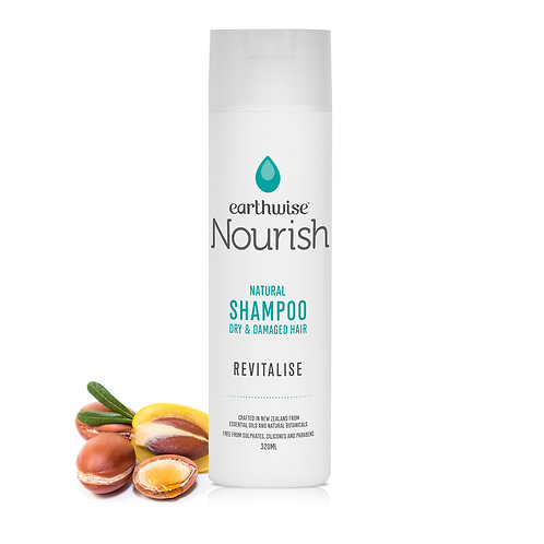 "Earthwise Nourish Natural Shampoo ""REVITALISE"" for Dry & Damaged Hair"