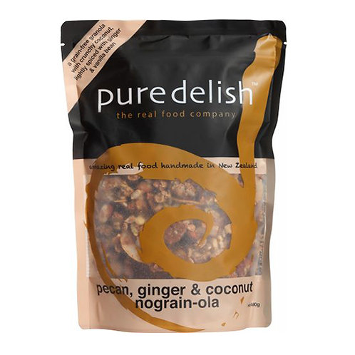 PURE DELISH Pecan, Ginger & Coconut Nograin Ola