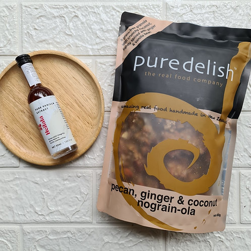Pure Vanilla Extract & พแคน, จงเจอร แอนด โคโคนท โนเกรนโอลา