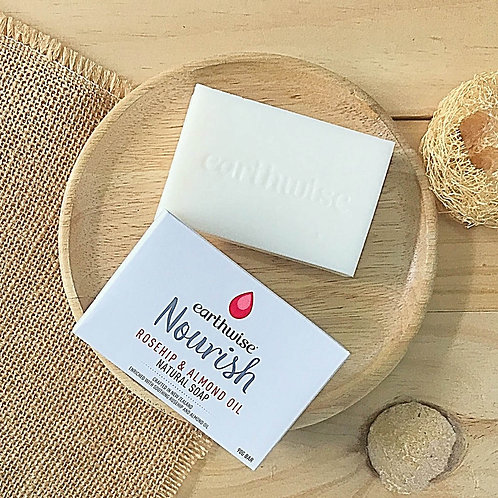 Nourish Rosehip & Almond Oil Natural Soap