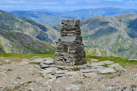 trig point, old man of coniston
