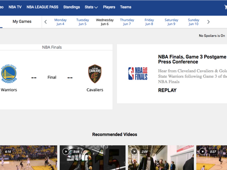 NBA League Pass - Mid game experience