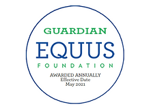 The Guardian EQUUS Foundation Seal for 2021-2022 for transparency in equine care.