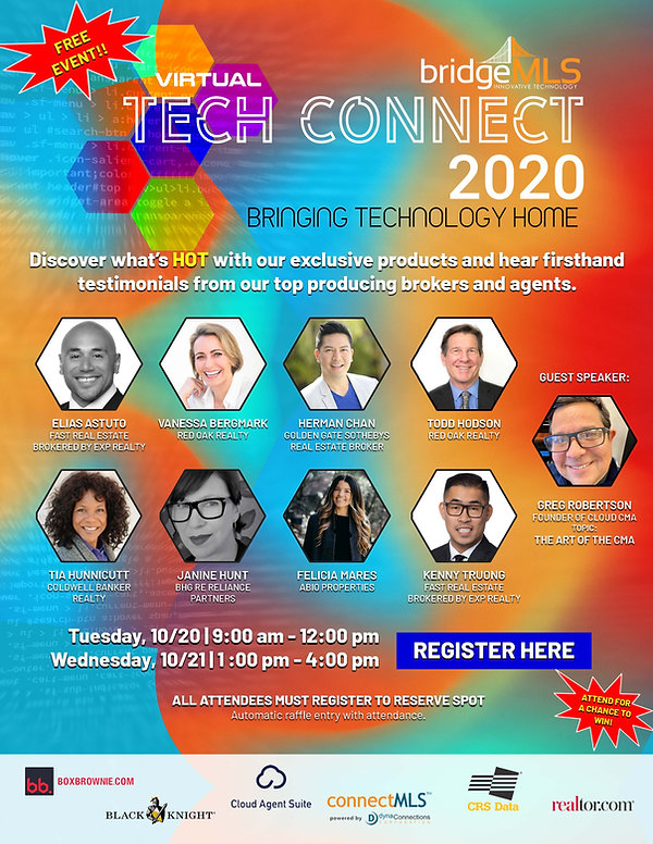bridgeMLS Tech Connect 2020 - Flyer w sc