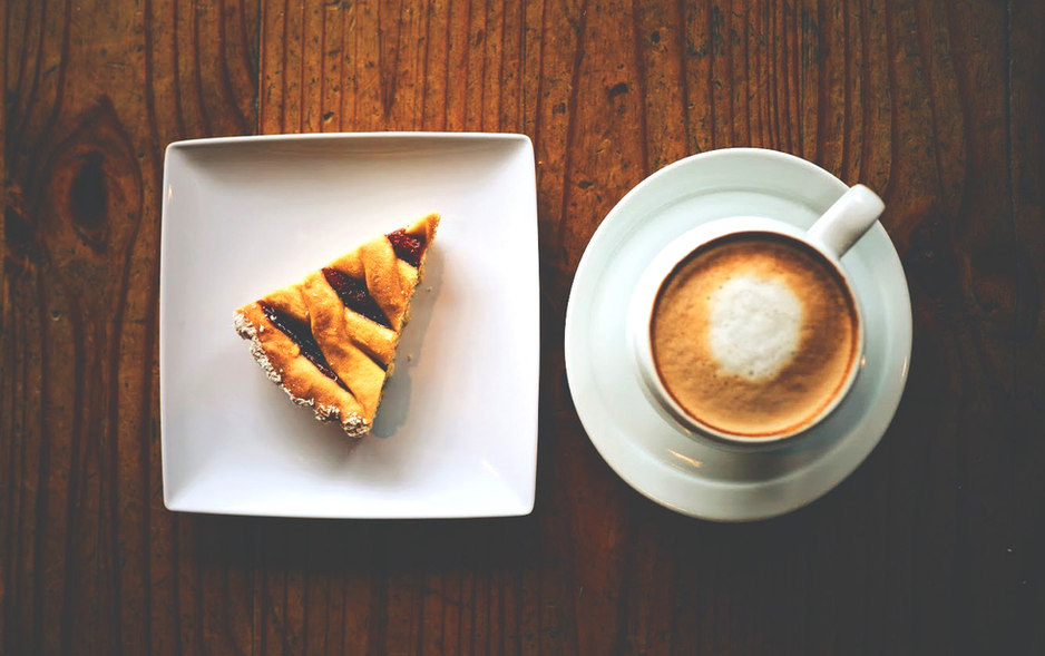 Pastafrola slice & Coffee.