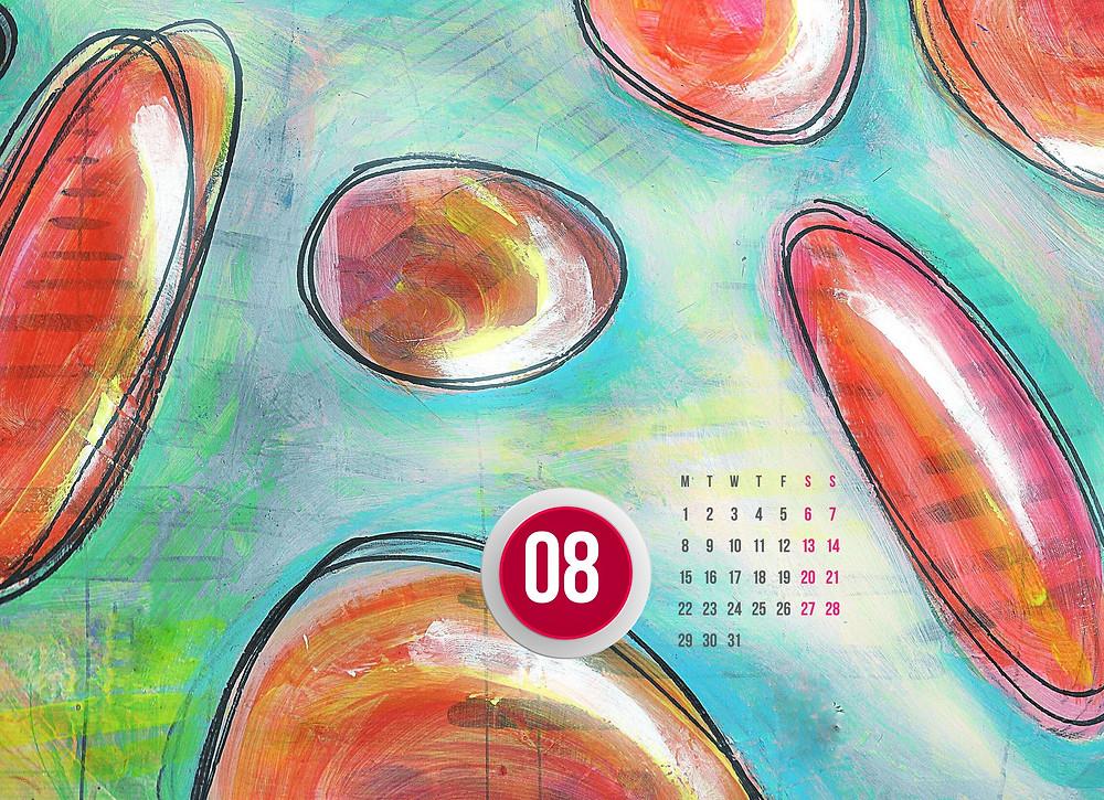 calendar August 2016 bubbles 08 artwork