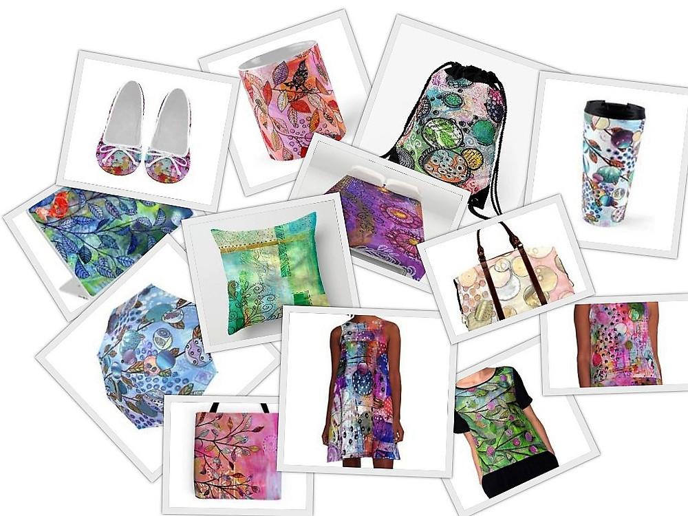 krasarts designs on products - POD